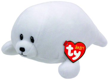 Tiny the White Seal Baby Ty