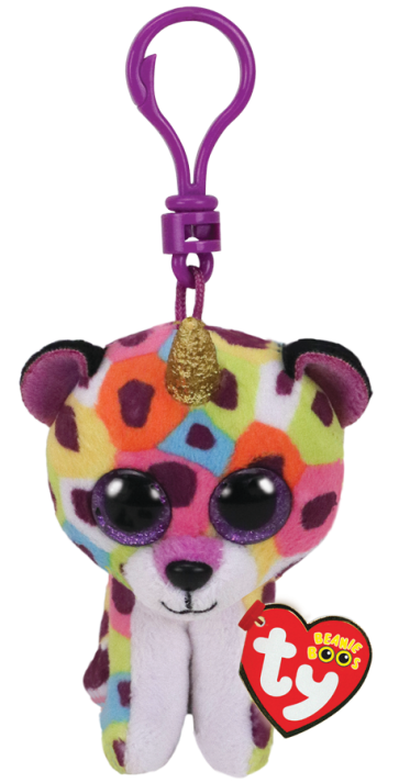 Giselle the Leopard with Horn Clip Beanie Boo