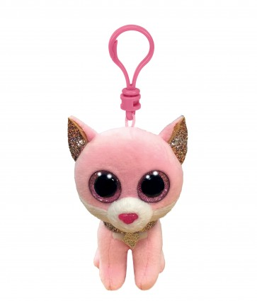 Fiona the Pink Cat Clip Beanie Boo