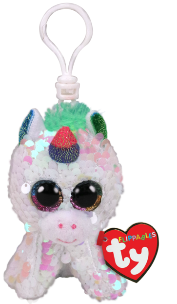 Pixy the White Unicorn Clip Flippable