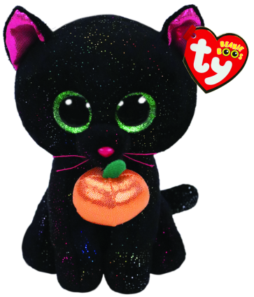 Potion the Cat with Pumpkin Halloween Regular Beanie Boo