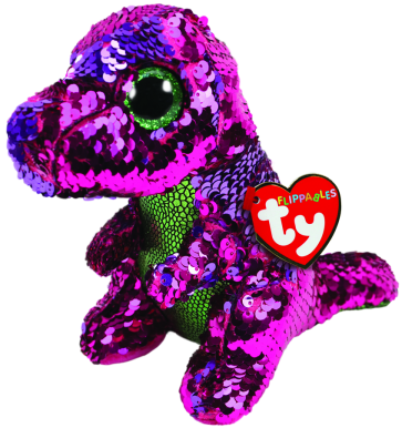 Stompy the Pink & Green Dinosaur Regular Flippable