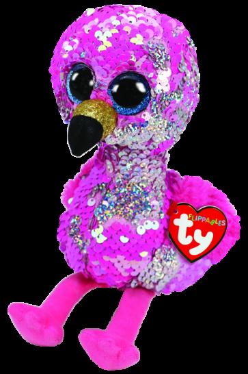 Pinky the Pink Flamingo Medium Flippable