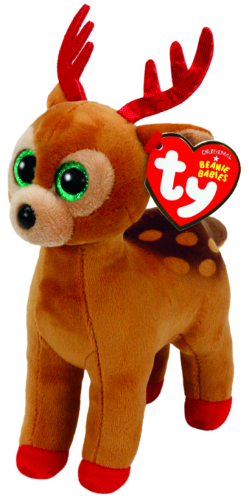 Tinsel the Brown Reindeer Beanie Babies Christmas