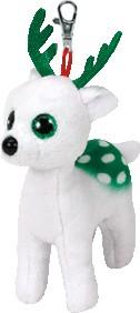 Peppermint the White Reindeer Beanie Babies Christmas (clip)