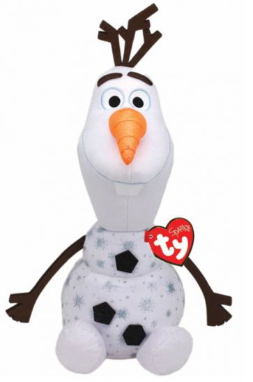 Frozen 2 Olaf Snowman Large Sparkle Beanie Babies
