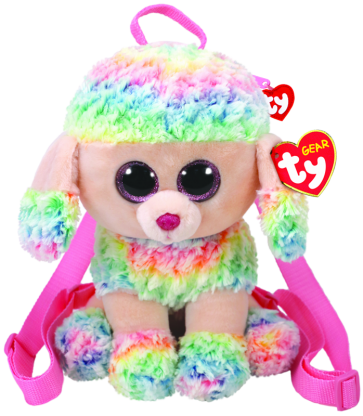 Rainbow the Multicoloured Poodle (backpack)