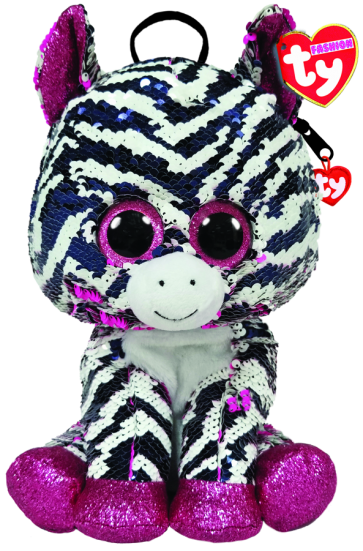 Zoey the Pink Zebra Sequin Backpack