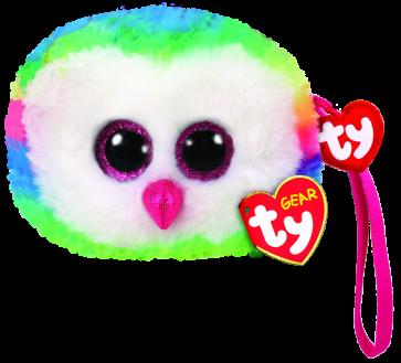 Owen the Multicoloured Owl (wristlet)