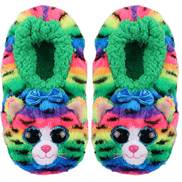 Tigerly the Rainbow Cat Slippers Medium