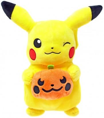 "Pokemon Pikachu Holding Pumpkin 8"" Seasonal Halloween Plush"