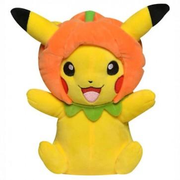 "Pokemon Pikachu Pumpkin Hat 8"" Seasonal Halloween Plush"