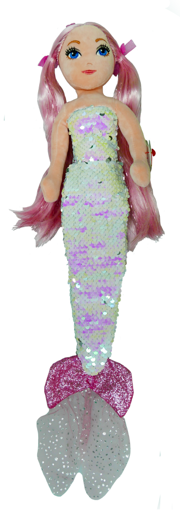 Cora the Pink Mermaid Medium Sea Sequins