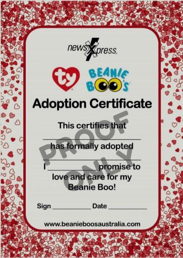 Beanie Boo Adoption Certificates