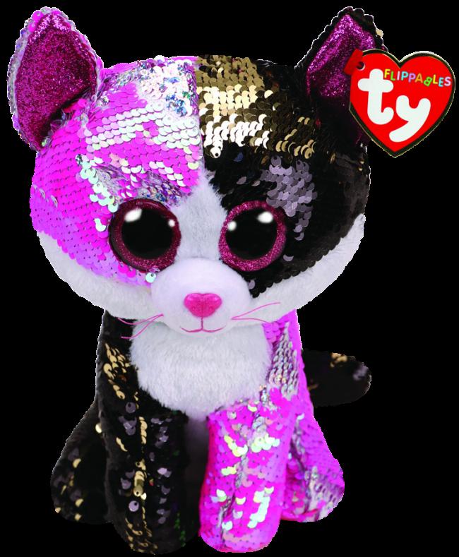 b87b09b778a Beanie Boos Australia - Malibu the Pink   Black Cat Medium Flippable ...