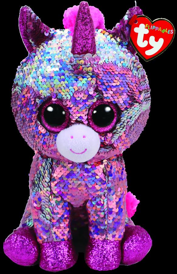 fdf48f9ebed Beanie Boos Australia - Sparkle the Pink Unicorn Medium Flippable ...