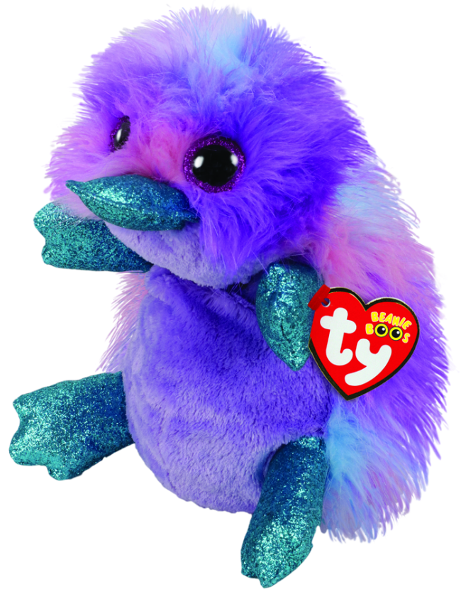 878cc05c87c Beanie Boos Australia - Zappy the Purple Platypus Medium Beanie Boo ...