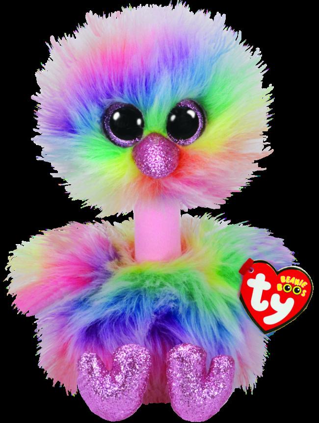 Beanie Boos Australia Asha The Pastel Ostrich Medium