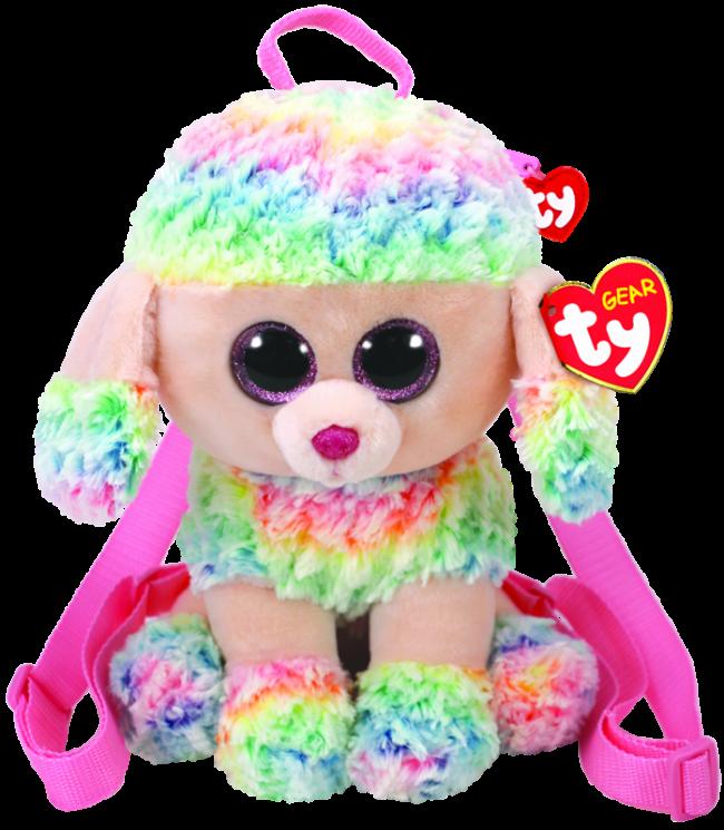 Beanie Boos Australia - Rainbow the Multicoloured Poodle (backpack ... f164534db473