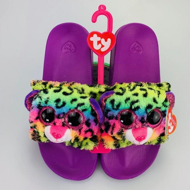 1f1bae7a003 Beanie Boos Australia - Dotty the Multicoloured Leopard Slides Large ...