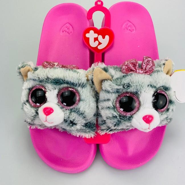 2a86015ac8e Beanie Boos Australia - Kiki the Grey Cat Slides Small