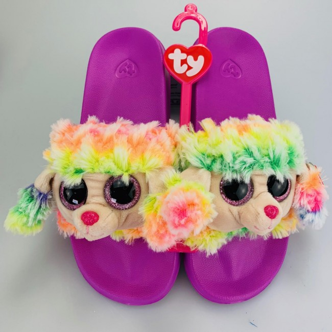 5d4ba81e5d8 Beanie Boos Australia - Rainbow the Multicoloured Poodle Slides ...