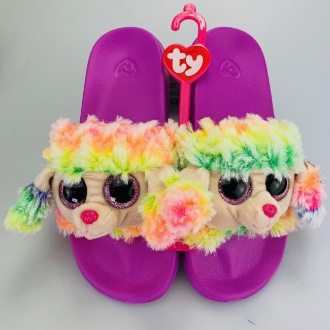 Beanie Boos Australia - Rainbow the Multicoloured Poodle Slides ... 492467894b37