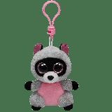Rocco the Pink & Grey Raccoon (clip)