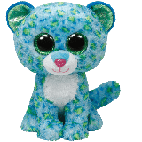 Leona the Blue & Green Leopard (medium)