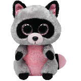 Rocco the Pink & Grey Raccoon (medium)
