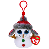 Christmas Buttons the Snowman Clip Beanie Boo
