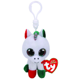 Christmas Candy Cane the Unicorn Clip Beanie Boo