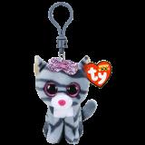 Kiki the Grey Cat Clip Beanie Boo