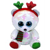 Mistletoe the Bear with Antlers Christmas Regular Flippable