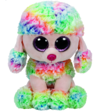 Rainbow the Multicoloured Poodle (medium)