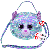 Whimsy the Blue Cat Sequin Purse Ty Fashion