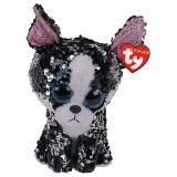 Portia the Black and White Terrier Medium Flippable