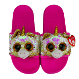 Fantasia the Multicoloured Unicorn Sequin Slides Large