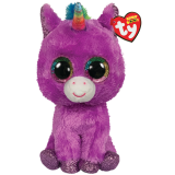 Rosette the Purple Unicorn Medium Beanie Boo