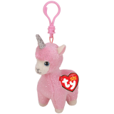 Lana the Pink Llama with Horn Clip Beanie Babies