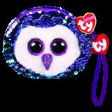 Moonlight the Purple Owl Sequin Wristlet Ty Fashion