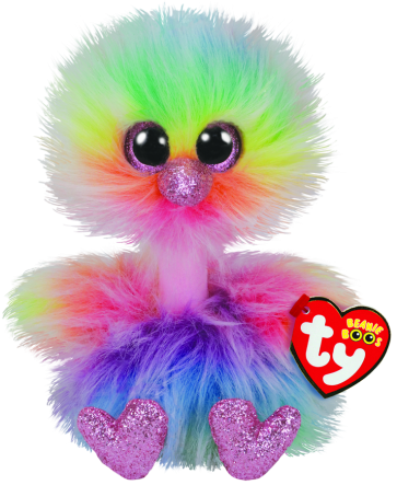 Asha the Pastel Ostrich Regular Beanie Boo