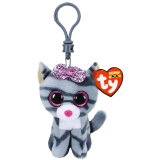 Kiki the Grey Cat Clip Beanie Boo