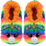 Gemma the Rainbow Unicorn Slippers Medium
