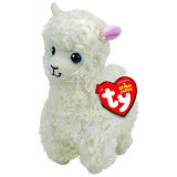 Lily the Cream Llama Medium Beanie Babies