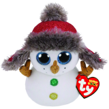 Christmas Buttons the Snowman Regular Beanie Boo