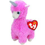 Lana the Pink Llama with Horn Regular Beanie Babies