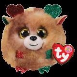 Christmas Fudge the Reindeer Ty Puffies