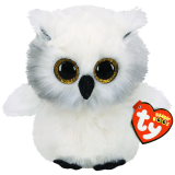 Austin the White Owl Medium Beanie Boo