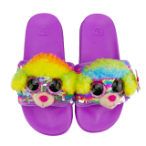 Rainbow the Multicoloured Poodle Sequin Slides Large